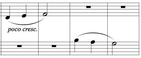 "Memorising music example 2 - four bars from Kabalevsky's ""First Piece"", op.89"